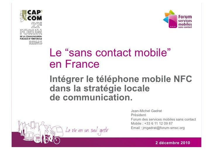 CN4 - Communiquer à travers Internet et les applications mobiles - Forum des services mobiles sans contact