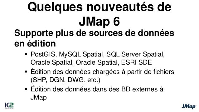 Quelques nouveautés de  JMap 6 Édition des données descriptives – Très flexible