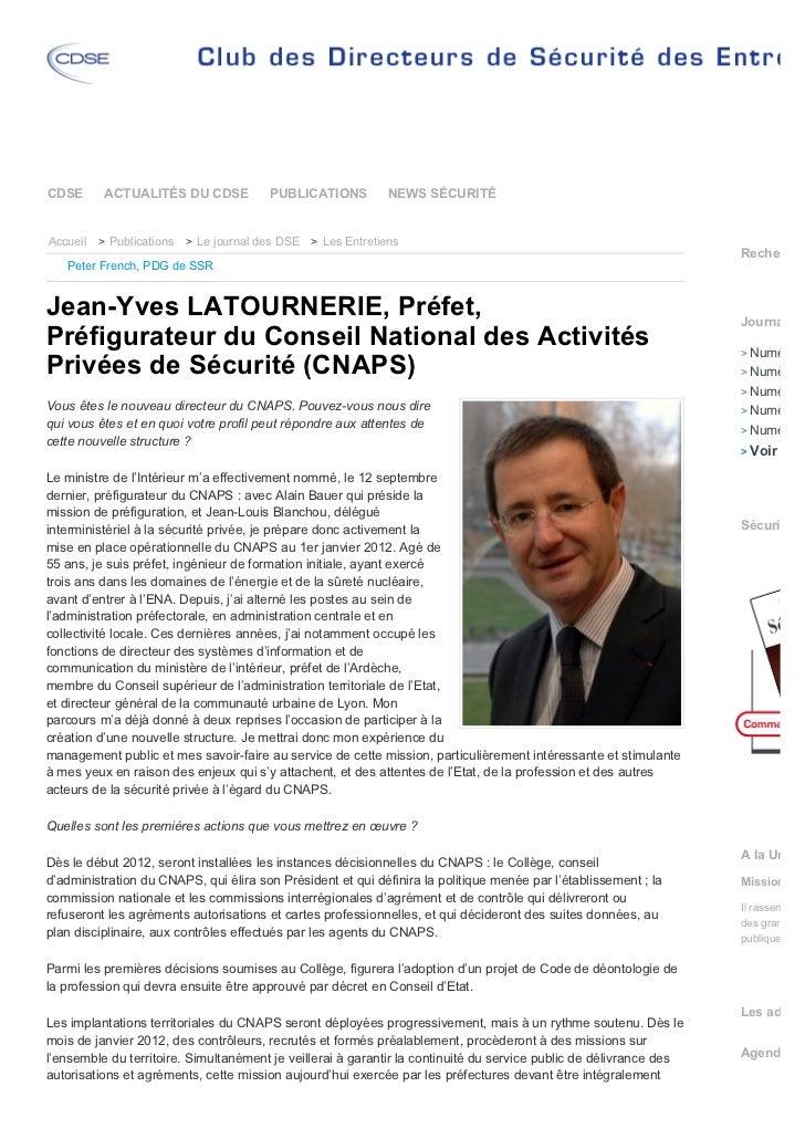 CDSE      ACTUALITÉS DU CDSE           PUBLICATIONS          NEWS SÉCURITÉAccueil > Publications > Le journal des DSE > Le...