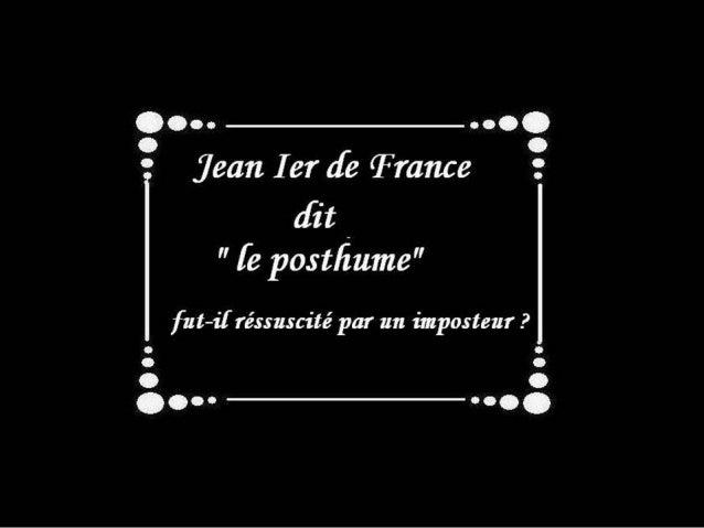 Jean 1er de France  le posthume