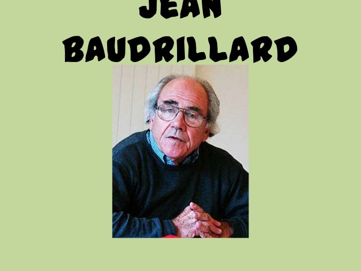 JeanBaudrillard
