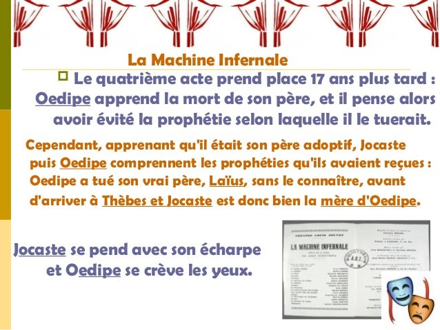 La machine infernale rencontre oedipe-sphinx