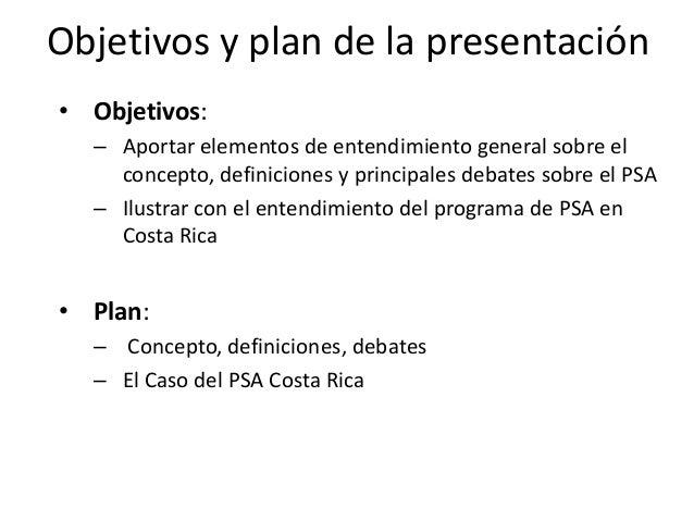Pago por servicios ambientales: concepto, definiciones, debates y aplicación al caso de PSA Costa Rica Slide 2