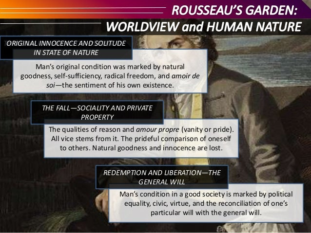 rousseau s amour propre s role in the What milton called pride, rousseau called amour-propre  as frankenstein fills  the roles both of milton's god, the unilateral male creator, and rousseau, the.