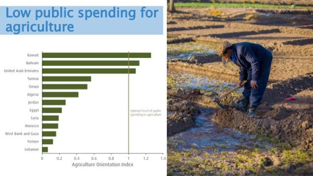 Innovations in financing water for food security Low public spending for agriculture