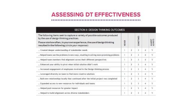ASSESSING DT EFFECTIVENESS