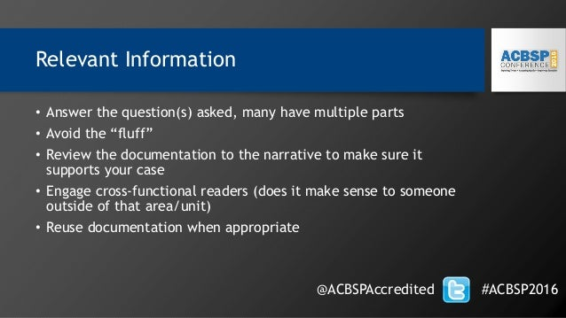 """Relevant Information • Answer the question(s) asked, many have multiple parts • Avoid the """"fluff"""" • Review the documentati..."""