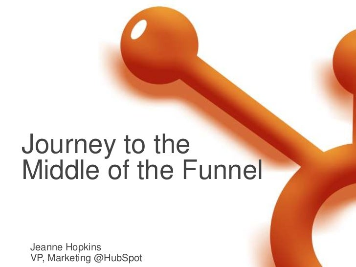 Journey to theMiddle of the FunnelJeanne HopkinsVP, Marketing @HubSpot