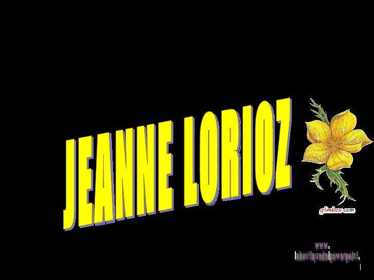 JEANNE LORIOZ www. laboutiquedelpowerpoint. com