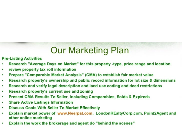 FREE Real Estate Listing Presentation - Realtor business plan template