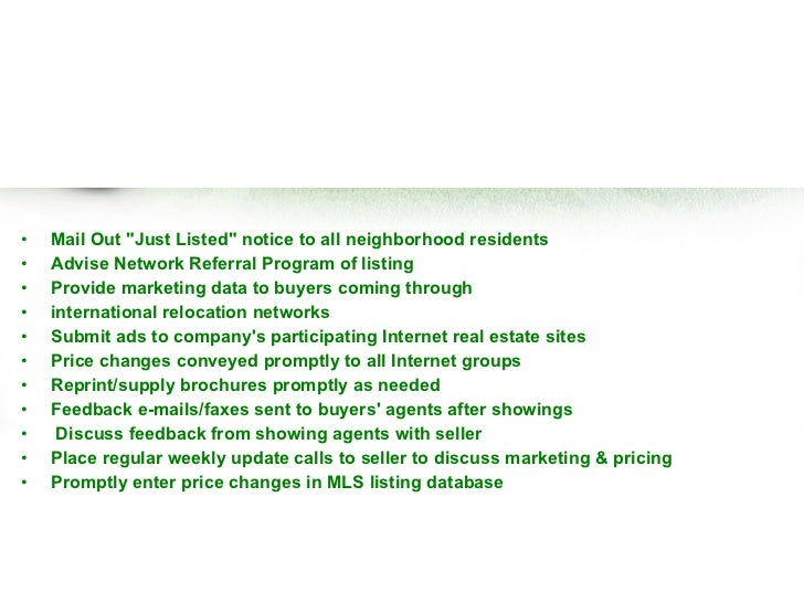 great sales email templates - free real estate listing presentation