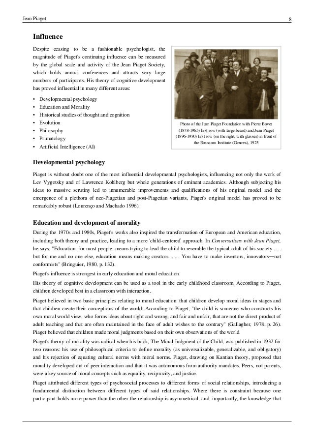 jean piaget research paper