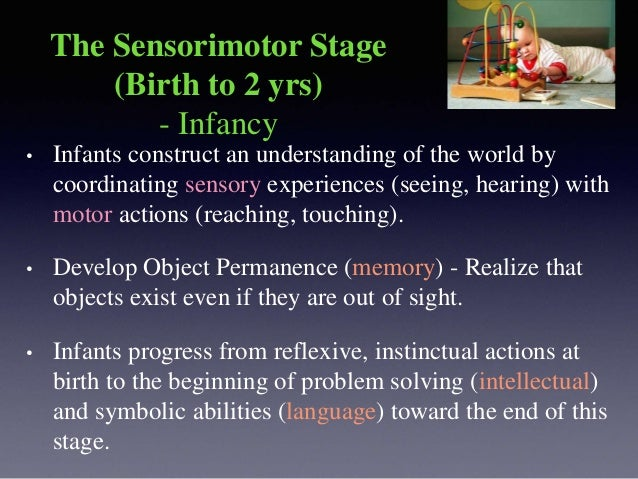 Preoperational Stage (2-7 yrs) -Toddler and Early Childhood • This stage begins when the child starts to use symbols and l...