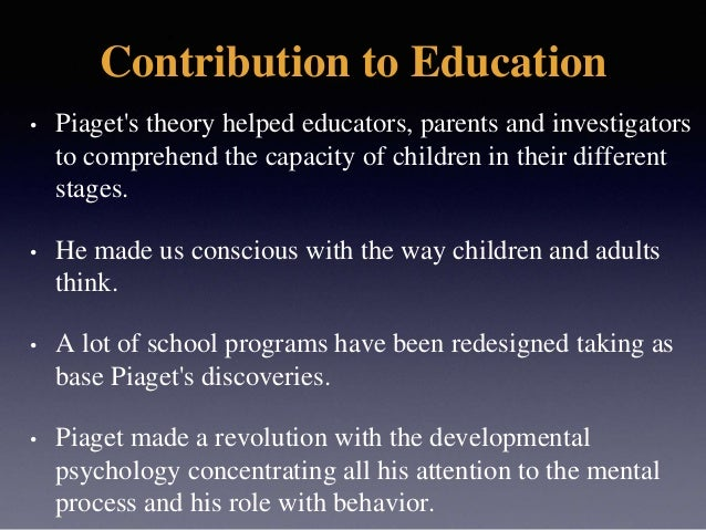 Jean Piaget: Theory of Cognitive Development