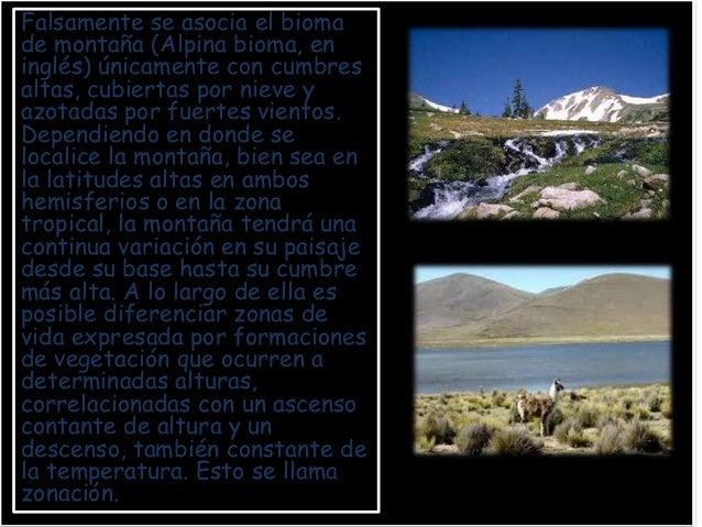Nombre Descripción Características ImagenBosqueEste bioma se caracteriza por ser abundanteenárboles, con colinas ocasional...