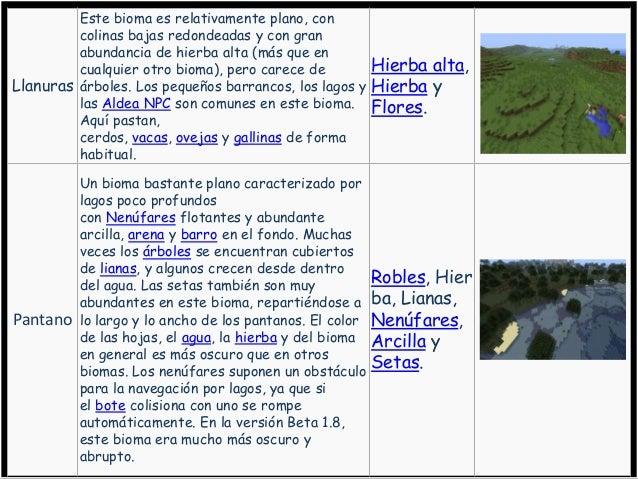 JunglaUn frondoso bioma que consiste en bosques deárboles selváticos que pueden superar31 bloques de altura y 2 bloques de...