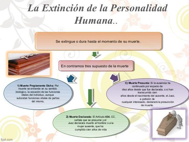 La Extinción de la Personalidad  Humana..  Se extingue o Se extingue o dduurara h haasstata e el lm moommeenntoto d dee s ...