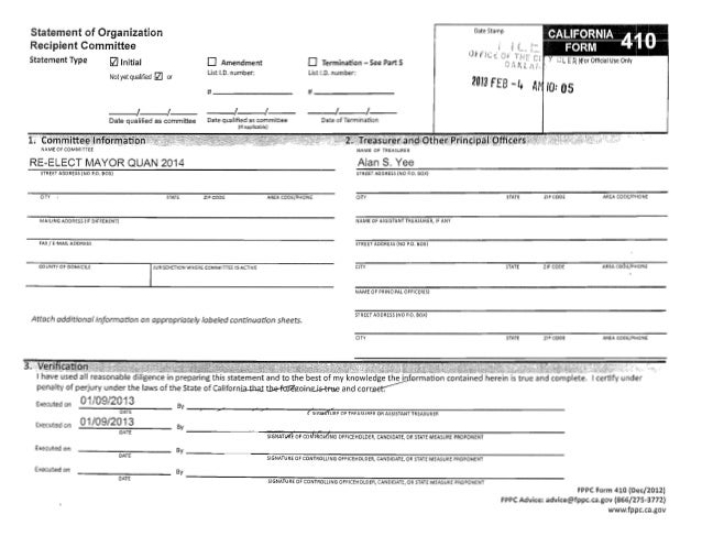 Jean Quan FPPC Form 410