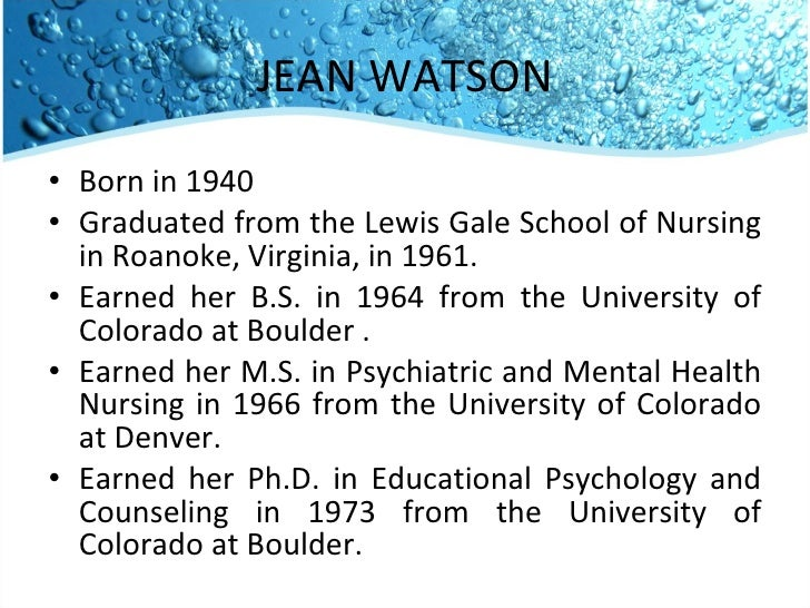 when was jean watson born