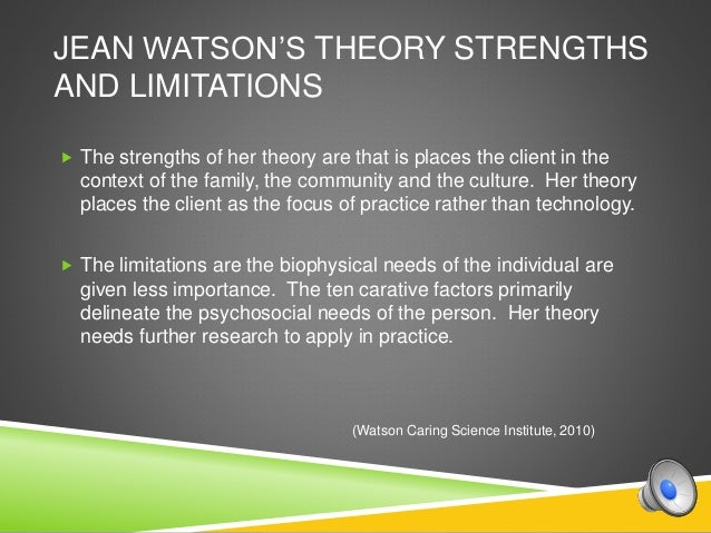 jean watson s theory of caring in insite nursing The human caring theory supports and guides the nursing care with a view to a  holistic and  caring proposed by jean watson, in 1979, deserves to be  emphasized  in the occurrence of insight into the promotion of care in this  sense.