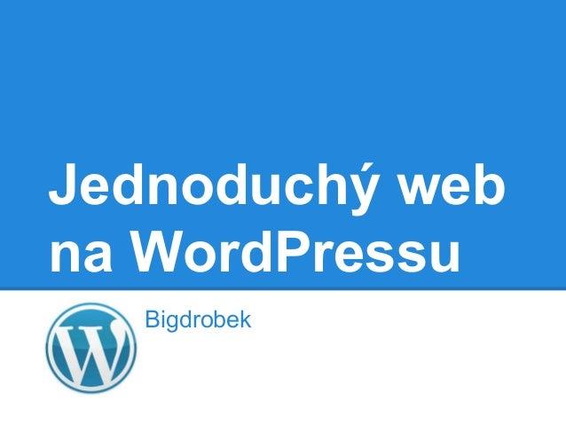 Jednoduchý web na WordPressu Bigdrobek