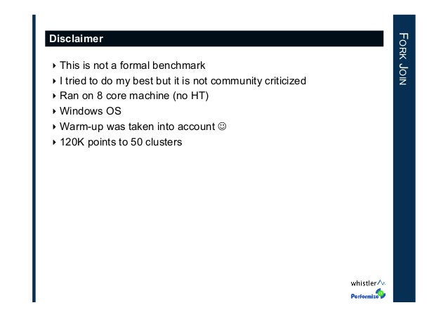 ‣This is not a formal benchmark ‣I tried to do my best but it is not community criticized ‣Ran on 8 core machine (no HT...