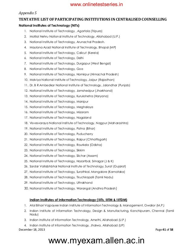 JEE Main 2014 Information Bulletin