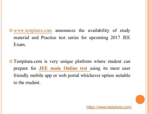 JEE main question Paper, Study Material and Aptitude tests at unique …