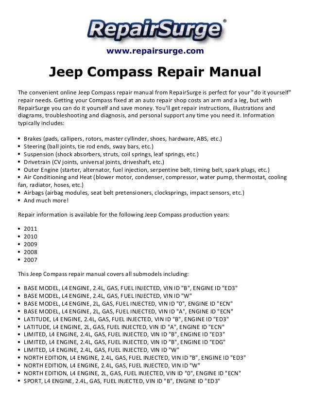 jeep compass repair manual 2007 2011 1 638?cb=1415624803 jeep compass repair manual 2007 2011 jeep repair diagrams at cos-gaming.co