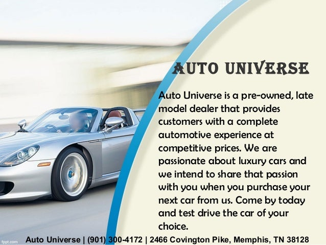Used Cars Memphis Tn >> Used Car Dealerships In Memphis Tn Auto Universe