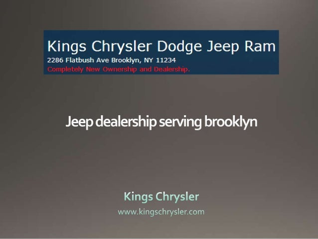 Visit Kings Chrysler Dodge Jeep Ram For A Variety Of New And Used Cars By  Jeep ...