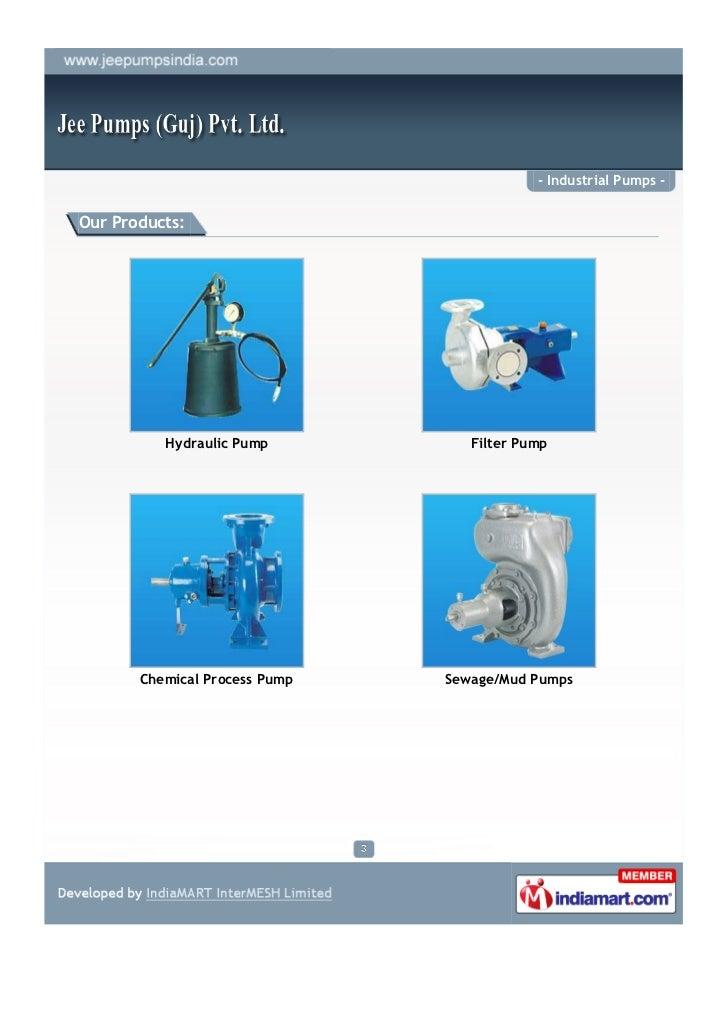Jee Pumps (guj) Pvt. Ltd, Ahmedabad, Industrial Pumps Slide 3