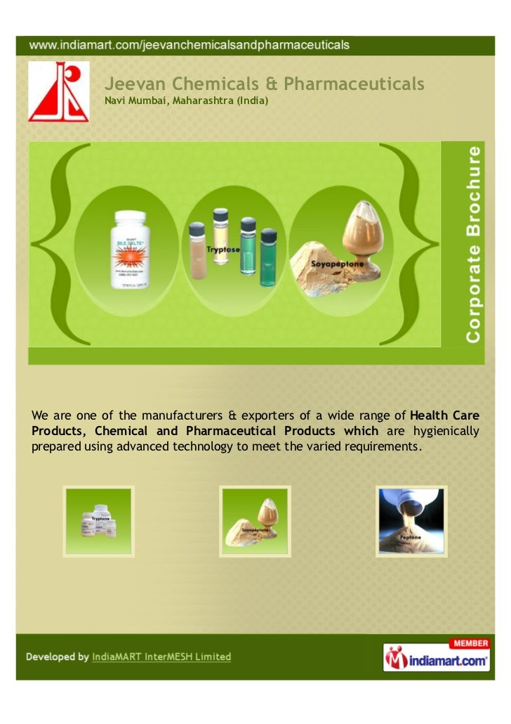Jeevan Chemicals & Pharmaceuticals            Navi Mumbai, Maharashtra (India)We are one of the manufacturers & exporters ...
