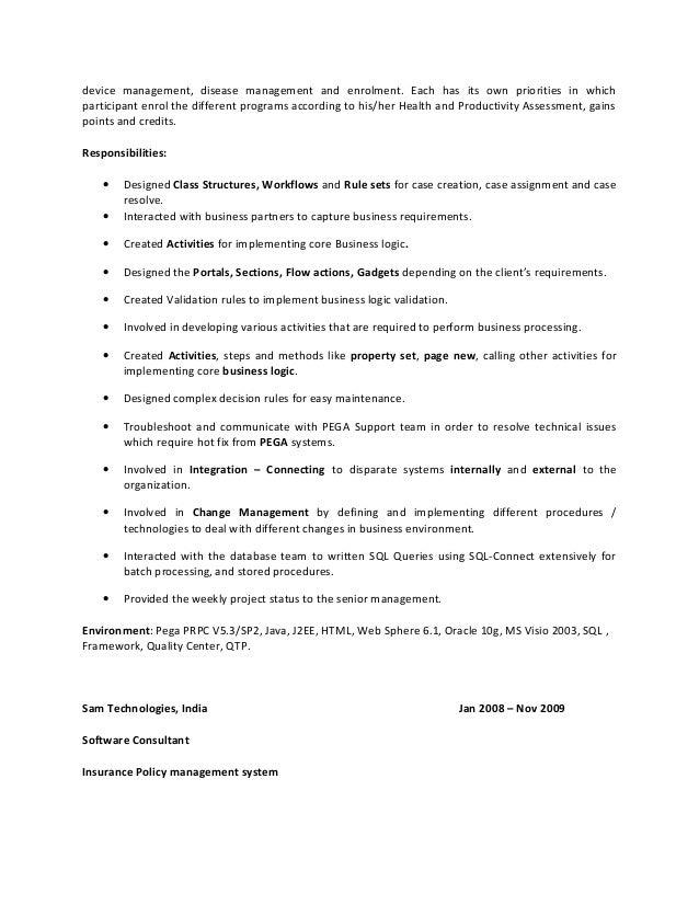pega cssa sample Resume