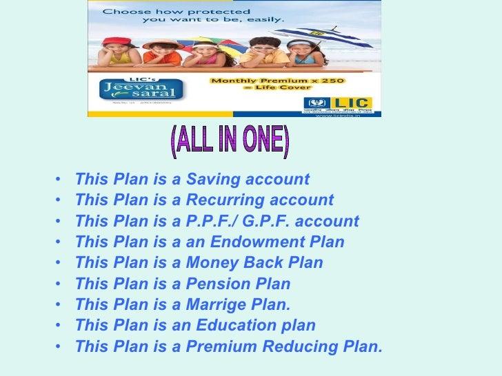 ( ALL IN ONE ) <ul><li>This Plan is a Saving account </li></ul><ul><li>This Plan is a Recurring account </li></ul><ul><li>...