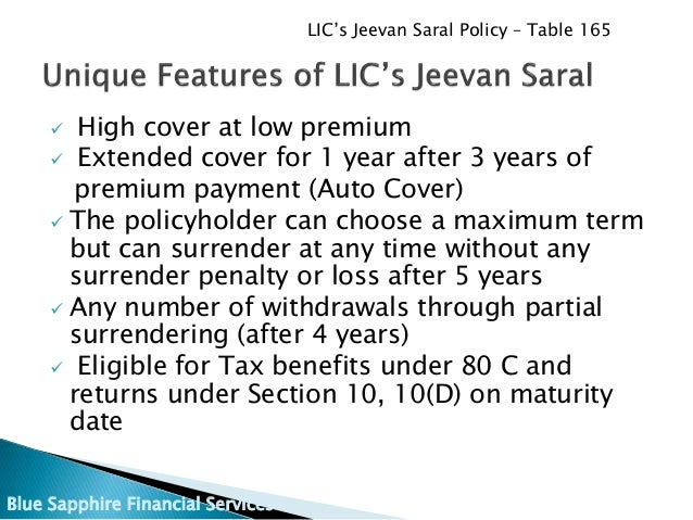 Lic S Jeevan Saral Plan Minimum Premium Maximum Returns