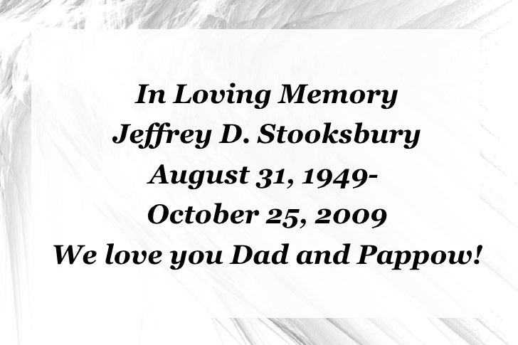 <ul><li>In Loving Memory