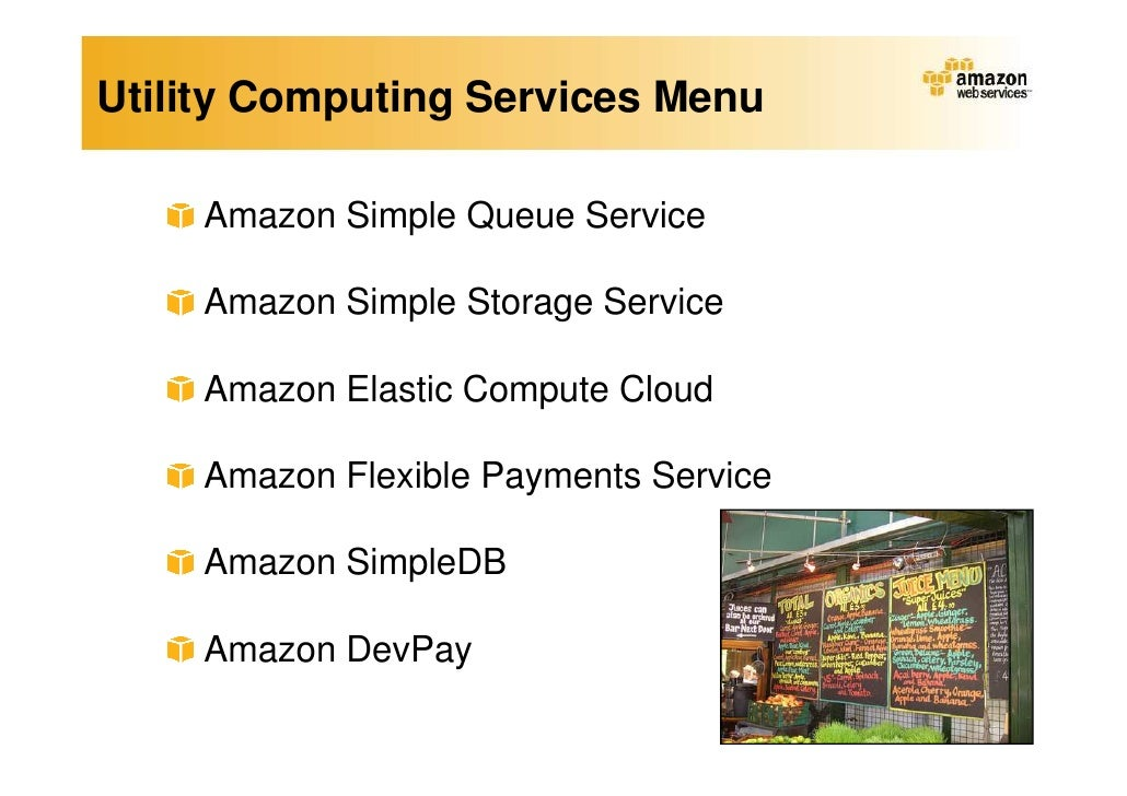 amazon s new store utility computing case study Wednesday, december 7, 2011 amazon's new store: utility computing amazon offers computing capacity on a per usage basis just like other utility providers of electricity, water and waste treatment 2 how do the concepts of capacity planning, scalability and tco apply to this case.