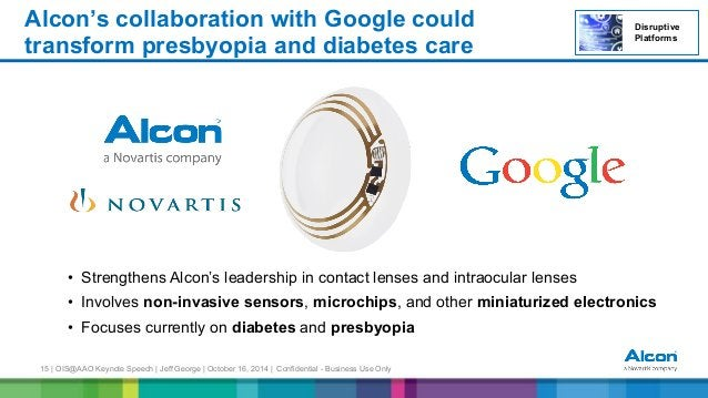 15 | OIS@AAO Keynote Speech | Jeff George | October 16, 2014 | Confidential - Business Use Only • Strengthens Alcon's lea...