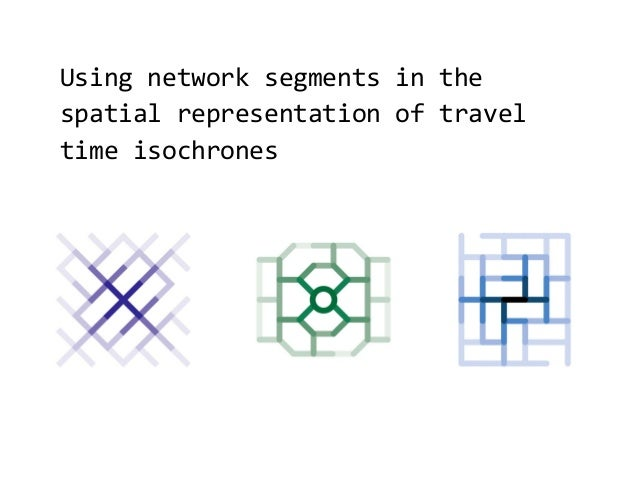 Using network segments in the spatial representation of travel time isochrones