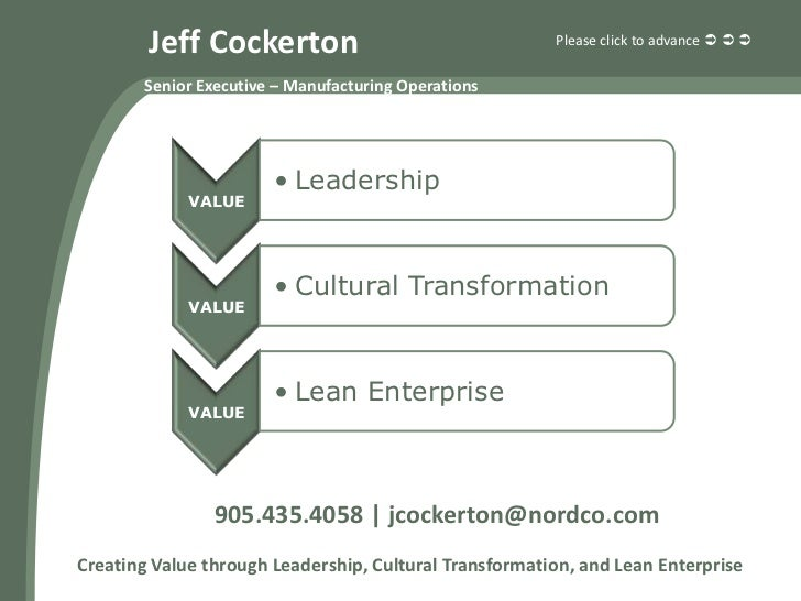 Jeff Cockerton                                  Please click to advance          Senior Executive – Manufacturing Opera...