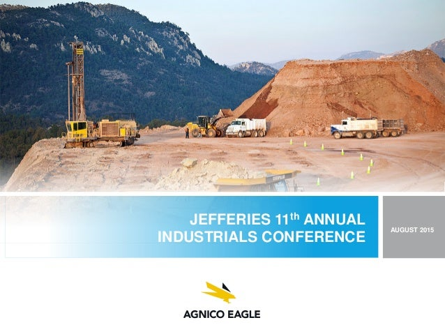 JEFFERIES 11th ANNUAL INDUSTRIALS CONFERENCE AUGUST 2015