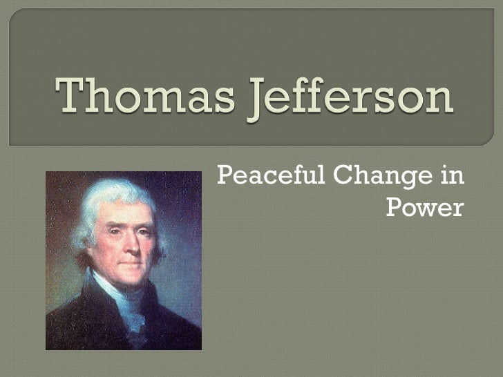 Peaceful Change in Power