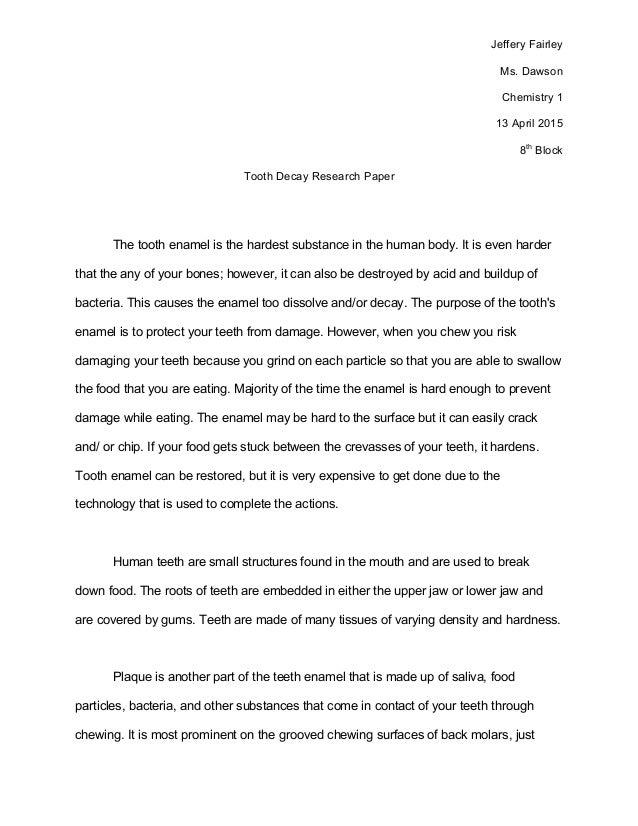 science fair essay paper