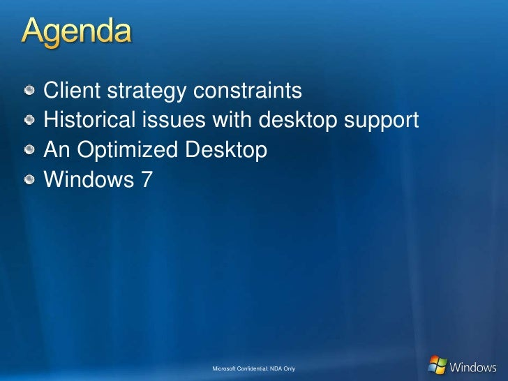 Optimized Desktop, Mdop And Windows 7