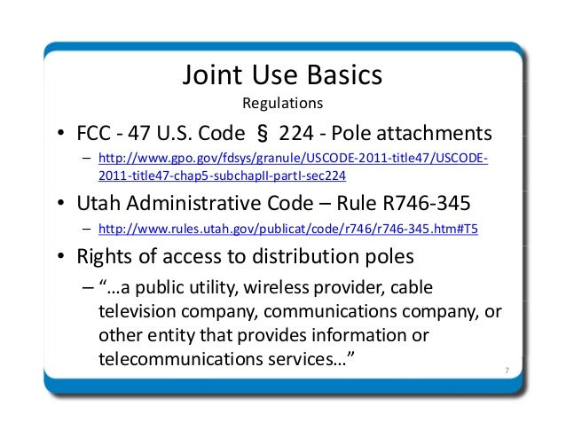 Rocky Mountain Power - Joint Use of Poles