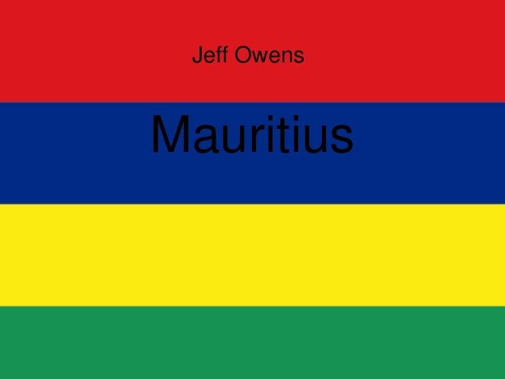 Jeff Owens<br />Mauritius<br />