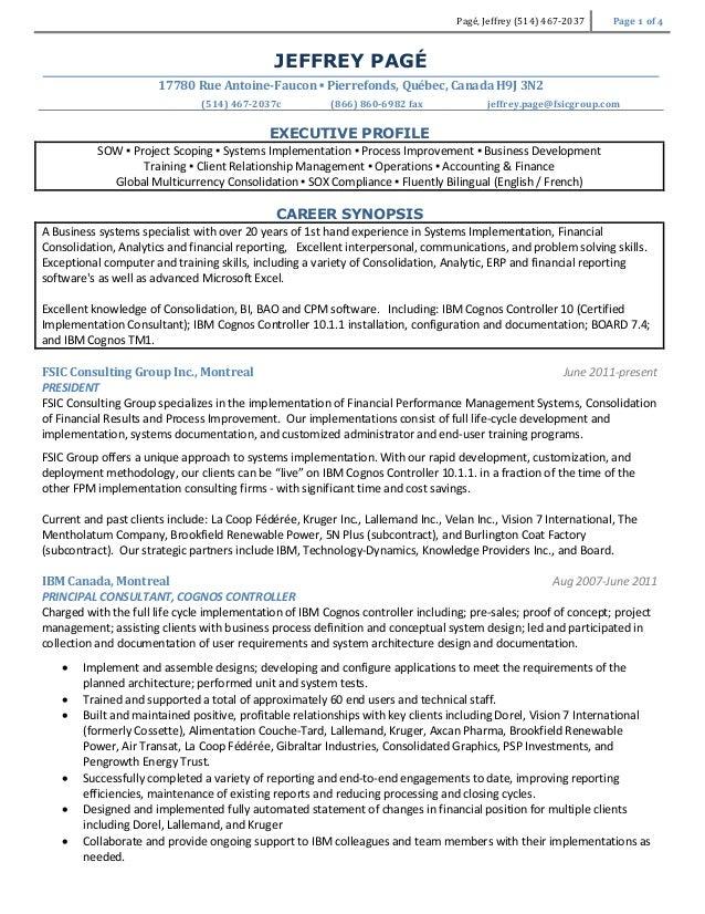 jeffrey page resume