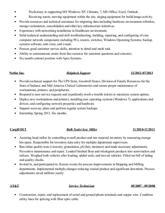 proficient in microsoft office resume