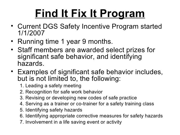 Safety: Hazard Identification And Recognition Program
